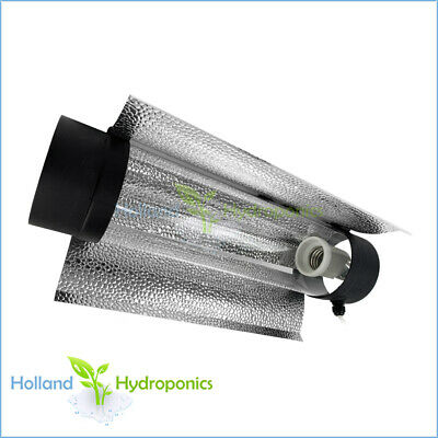 "Hydroponics Grow Light HPS MH Cool Tube 5"" reflector Aluminium inside & outside"