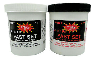 Fasco Epoxies | #110 Epoxy Glue | Fast Set (Quart Kit)