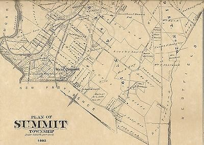 Summit NJ 1882  Maps with Homeowners Names Shown
