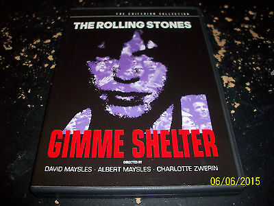 Criterion Collection: Gimme Shelter!! The Rolling Stones!! Used & In Mint Cond!!