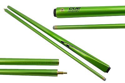 "SALE CUEMASTER A SERIES MAPLE  Pool CUE 2-pce Green 57"" - Snooker Billiard"
