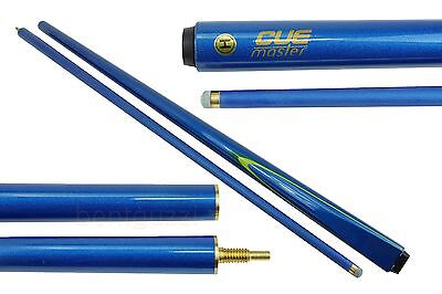 "SALE CUEMASTER A SERIES MAPLE  Pool CUE 2-pce Blue 57"" - Snooker Billiard"