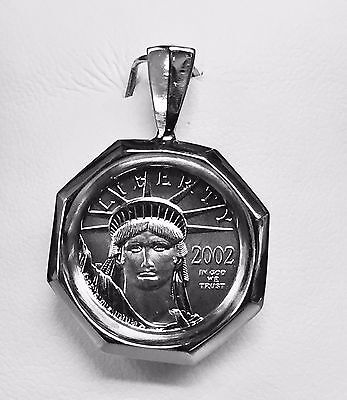 1/10 oz. Platinum American Liberty Eagle Bullion Coin-Platinum Framed Pendant