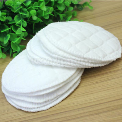 12PCS Soft Reusable Nursing Breast Pads Washable Absorbent Feeding Breastfeeding