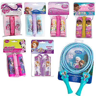 Girls Disney Character Skipping Jump Rope,Frozen,Little Pony,Sofia,Doc Mcstuffin