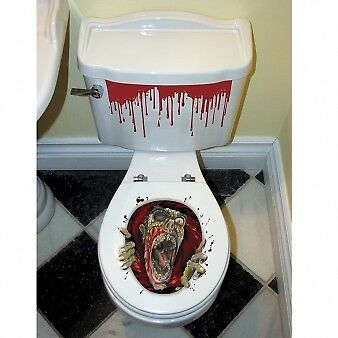 HALLOWEEN Toilettensitz ZOMBIE Grusel Dekoration Deko