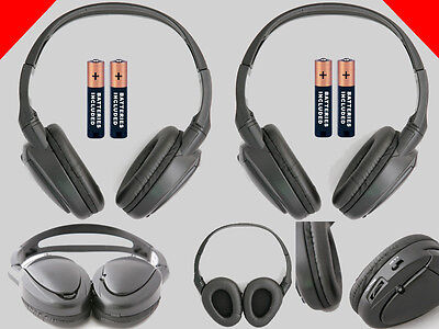 2 Wireless DVD Headphones for Lincoln Vehicles : New Headsets