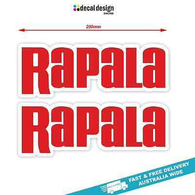 Rapala Decals x 2 stickers in a set suits boat fishing tackle graphics