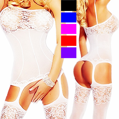 Fishnet Body Stockings Sleepwear Adult New Women's Lingerie Bodysuit Babydoll