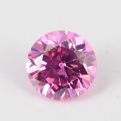 Cubic Zirconia Pink Round AAA Rated CZ Loose Stones (1mm - 17mm)
