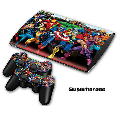 Skin Sticker Vinyl Decal Cover For Playstation 3 PS3 Super Slim CECH-4000 #0048