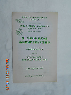 All England Schools Gymnastic Championship   20Th February 1971