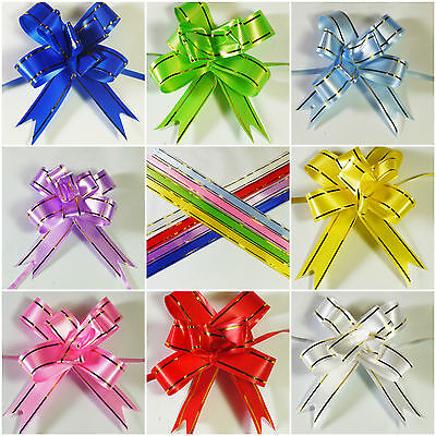 Stunning Mini 5cm Pull Bows - 7 Colours to choose - 10,25 & 50 pks, - 3 FOR 2