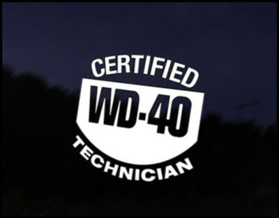WD40 TECHNICIAN Car Sticker Graphic Decal VW DUB VAG Euro Japan Drift Funny