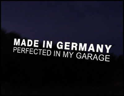 Made in Germany Car Decal Sticker JDM Vehicle Bike Bumper Graphic Funny