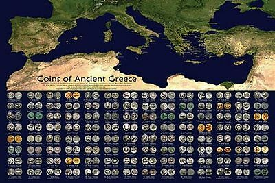 History of Ancient Greece Greek Coins Paper Poster 6205