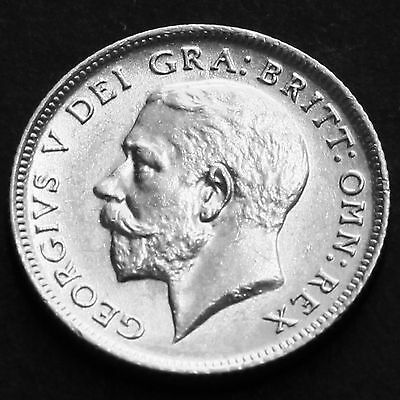 1924 George V Silver Sixpence -  A/UNC  #3