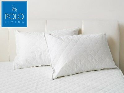 POLO Pillow Protector - Pack of 2 - Fully quilted with zip closure