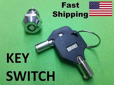 SWITCH --- 1NO - 1NC --- Key Switch with 2 keys barrel style 12MM ON OFF 2 wire