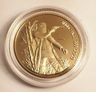 """New """"Ned Kelly #1"""" 1/10th oz HGE 999 Gold Australiana Coin, Last Stand"""