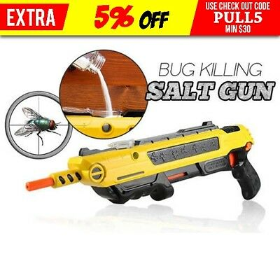 Powerful Salt Gun for flies bees stink bugs Insect mosquito Bug using a salt