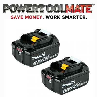 Genuine Makita BL1840 18v 4.0ah LXT Li-ion Battery with Star - TWIN PACK