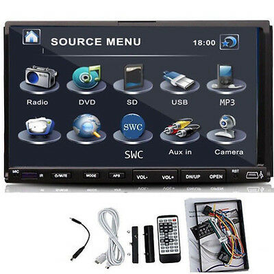 "Digital 7 ""Double 2DIN car DVD SD USB MP3 Radio Player Stéréo Moniteur Autoradio"