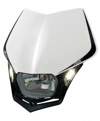 Mascherina Faro Anteriore Moto Racetech V-face LED Bianco Rtech Headlight Enduro