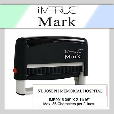 9016 Custom 1 or 2 Line Long Narrow Text Custom Self Inking Rubber Stamp