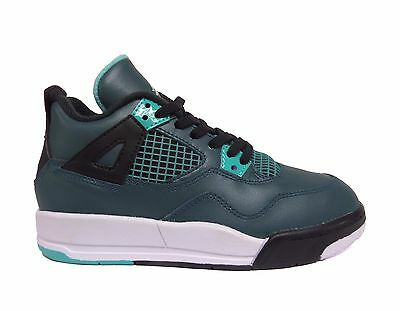Nike Boys' Little Kids Jordan 4 Retro Preschool Shoes Teal/Black 308499-330 a1