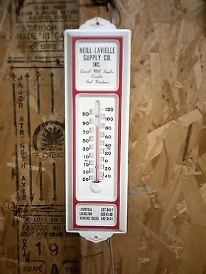 Neill Lavielle Supply Company Inc. Ky. Vintage Metal Advertising Thermometer