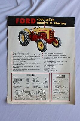 Vintage New Ford 6000 Tractor Brochure 1960 Farm Advertising  Ephemera