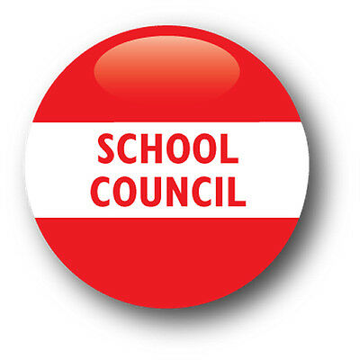 School Council School Pin Badge - Pack of 10