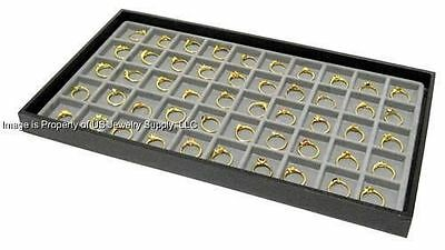 1 Black Tray 50 Space Grey Charm Ring Body Jewelry Display
