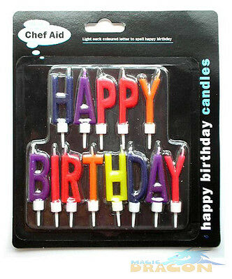 Happy Birthday Cake Candles Novelty Party Chef Aid