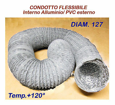 Flexible Aluminium/ Pvc Pipe Diam 127 For Hot And Cold Air Ducting Promotion