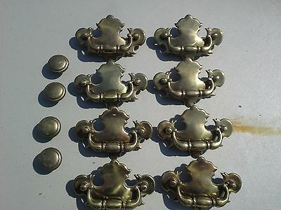 Lot of 8 vintage style drawer pull handles & 4 knobs plus screws