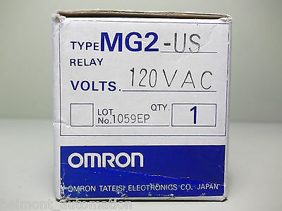 NEW IN BOX - Omron MG2-US 120VAC Control Relay