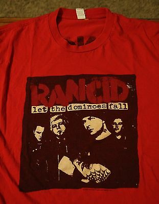 Rancid Let The Dominoes Fall 2009 Tour t-shirt Men's Large Punk Band