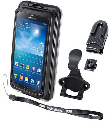 Ram Motorcycle Handlebar Clamp Mounted Aquabox Pro 20 Phone Holder Iphone Ipod