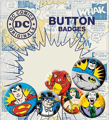 DC Comics Heroes & Villans Badge Pack - Official Licensed Product