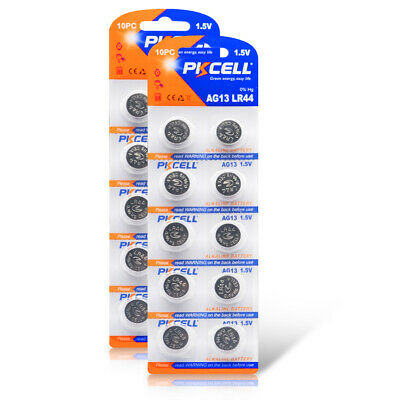 20 x LR44 A76 L1154 AG13 357 SR44 303 1.5V Alkaline Coin Button Cell Battery