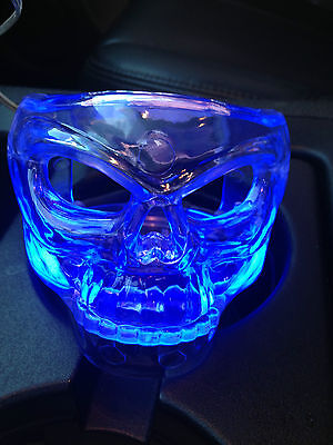 Glow Neon Skull  Drink Cup Holder clip on A/C vents