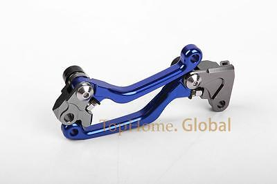 For Yamaha WR250F WR450F 2005-2015 Pivot Brake Clutch Levers Blue 10 11 12 13 14