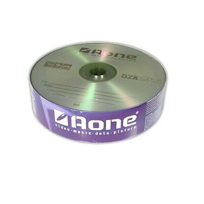 25 x AONE BLANK CD-R RW CD DISCS 700MB 80 MINS 52X for DATA PHOTOS VIDEO by AONE