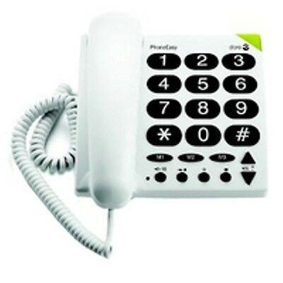 Doro Big Button Hearing Aid Compatible & Visually Impaired Landline Telephone