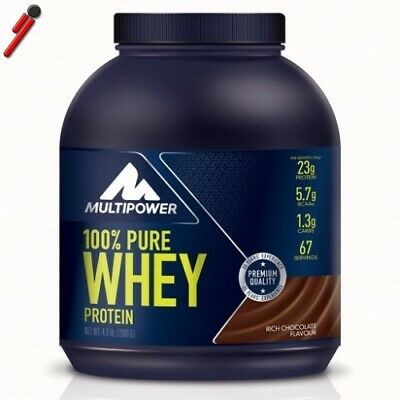 Multipower 100% Pure Whey Proteine 2000 g 2 Kg Siero Latte e isolate+Asciugamano