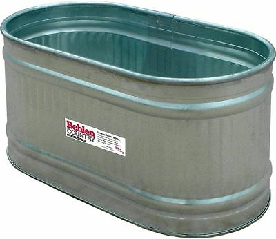 Behlen Country Galvanized Round End Water Tank Feed Trough Horse Cattle Free Shi