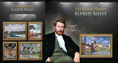 CA13116ab Central Africa 2013 Alfred Sisley MNH SET **