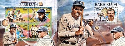 CA13218ab Central Africa 2013 Babe Ruth MNH SET **